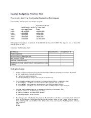 106351490-Capital-Budgeting-Practice-Test