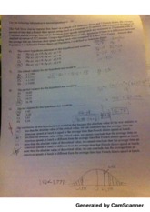 null hypothesis hw