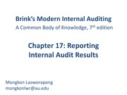 Chapter 17_Reporting Internal Audit Results