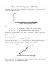Notes, Regression and Correlation study guide