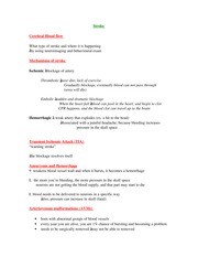 PSYCH 207 Stroke Notes