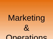 Marketing and Operations-2