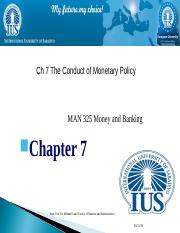 Chapter 7   Conduct of Monetary Policy.ppt