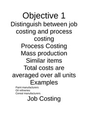ADMN 503: Job Costing Notes