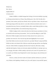 antigone essay prep antigone in class essay prep  3 pages the catcher in the rye essay