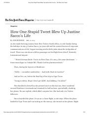 How One Stupid Tweet Blew Up Justine Sacco's Life - The New York Times.pdf