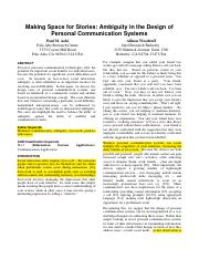 Ambiguity in the Design of Personal Communication system.pdf