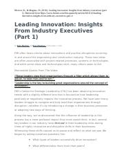 Leading Innovation from FMI Industry Insights.docx