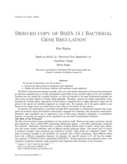 BIS 2A, Textbook 14.1 Bacterial Gene Regulation