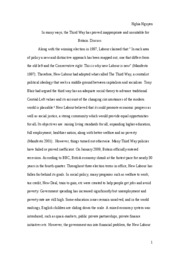 Third Way essay