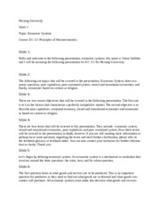 EC111 - Week 1 - Economic Systems Script