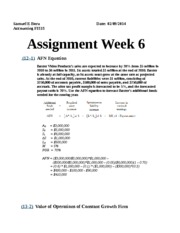 Assignment week 6