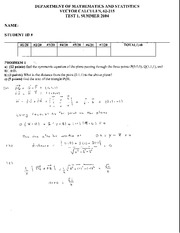 Math 215 Test 1 Summer 04