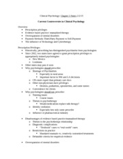 Clinical Psychology Notes 2-2-15