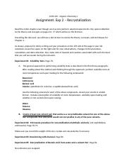 CHM 245 - Exp 2 - Recrystalization Assignment.docx