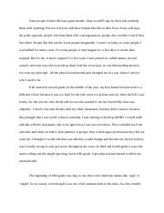 Autobiography Essay: Final Draft