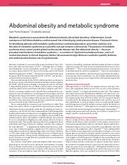 Abdominal obesity and metabolic syndrome
