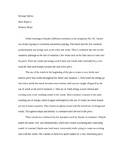 Western Music short paper 2