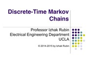 Section 8 Discrete Time Markov Chains