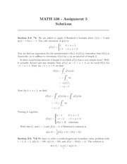 MATH 338 Assignment 5 Solutions