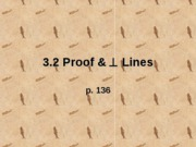 3.2 Proof & Perp. lines