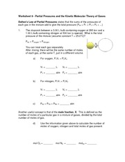 Worksheets Kinetic Molecular Theory Worksheet worksheet 12 partial pressures and the kinetic 5 pages 9