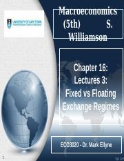 Chapter 16_Money in SOE_Lecture 3_Fixed vs Floating
