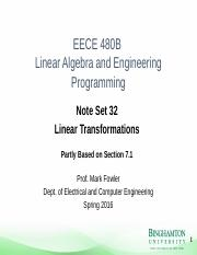 Note_Set_32 - Linear Transformations