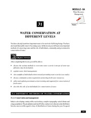 31_Water Conservation at Different Levels