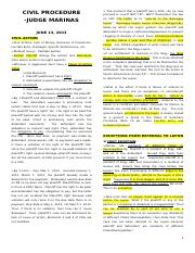 321189516-Judge-Marinas-Civil-Procedure-Lecture-Series-1-1-docx.docx