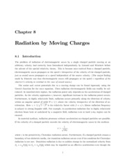 Ch 8- Radiation by Moving Charges