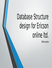 Database Structure design