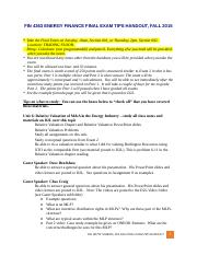 FIN 4363 ENERGY FINANCE Final Exam TIPS PAGE FALL 2015-IN CLASS.doc