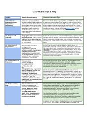 C157 Rubric Tips and FAQs.docx
