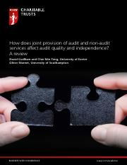 how does joint provision of audit and non audit services affect audit quality and independence.pdf