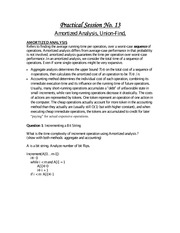 Amortized Analysis and Union-Find