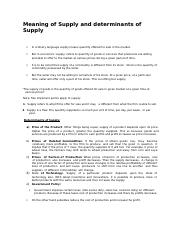 LESSON-Meaning of Supply and determinants of Supply.docx