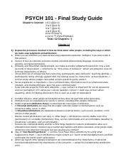 PSYCH 101 - Final Study Guide