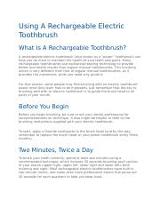 Using A Rechargeable Electric Toothbrush.docx