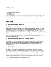 Ch 3 HW - FASB Info - Disclosures in Notes to the Financial Statements - notes