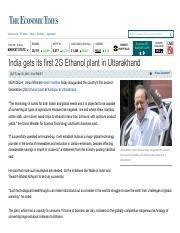 2G Ethanol plant in Uttarakhand - The Economic Times.pdf