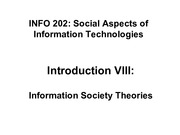 INFO202-S15-Lecture08-InfoSocietyTheories