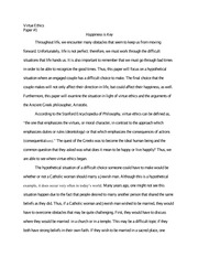 Ethics paper on happiness