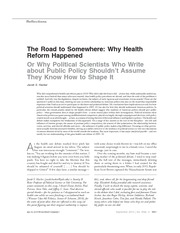 WK09A_Hacker_The Road to Somewhere_Why Health Reform Happened