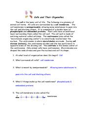 ANSWERS -cells and organelles.pdf