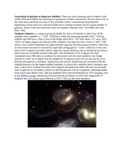 Association of galaxies at disparate redshifts