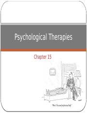 Ch 15  Psychological Therapies 4.7