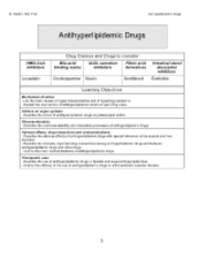 ANTIHYPERLIPIDEMIC DRUGS