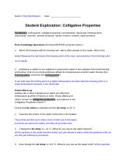 Copy of Gizmos: colligative properties.docx - Name Emily ...