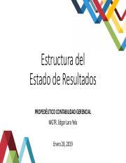 Presentación No 3 Estructura Del Estado De Resultados Pdf